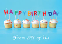 """Candle Message"" Cupcake Birthday Card"